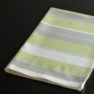b8031-30-1 70.0×48.0グレー/黄緑ストライプキッチンクロス