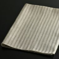 b8040-55-1 69.0×50.0quatre saisons麻グレーストライプ織キッチンクロス