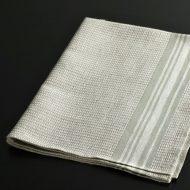 b8041-30-1 67.0×50.0グレーワッフル織縁グレーラインキッチンクロス
