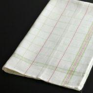 b8054-50-1 80.0×48.0麻黄緑/赤チェックキッチンクロス