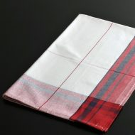 b8061-40-1 81.0×54.0mulliez赤/紺縁チェックキッチンクロス
