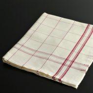 b8076-45-1 72.0×61.0麻きなり赤格子キッチンクロス