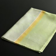 b8109-100-1 80.0×58.0Le Fagquard Francais薄緑/黄梅柄クロス