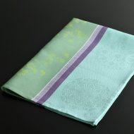 b8110-100-1 80.0×59.0Le Fagquard Francais水色/紫/緑梅柄クロス