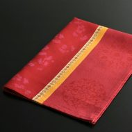 b8111-100-1 80.0×58.0Le Fagquard Francais赤/オレンジ梅柄クロス