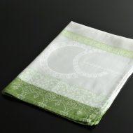 b8112-80-1 80.0×57.0Le Fagquard Francais緑系白カップ柄クロス