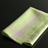 b8115-90-1 74.0×70.0LIBECO麻黄緑紫ラインキッチンクロス
