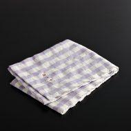 b8117-60-1 69.5×52.0ALDIN薄紫ギンガム洗い麻クロス
