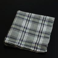 b8123-75-1 54.5×64.0ALDIN 紺/水色/グレー/黄チェックキッチンクロス