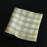 b8124-55-1 53.0×63.0ALDINベージュ/黄チェックキッチンクロス