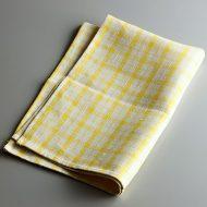 b8126-35-1 46.0×66.0きなり/黄チェック麻キッチンクロス