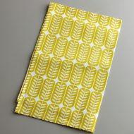 b8132-50-1 72×46ZIZI 黄葉柄麻キッチンクロス