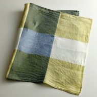 b8135-90-1 73×47黄/青/緑/白麻キッチンクロスマーガレットハウエル