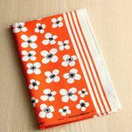 b8148-60-1 74×47almedanlsオレンジ白花麻キッチンクロス