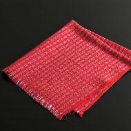 b9009-45-1 59.0×53.0チベット赤格子柄クロス