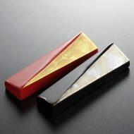 d4124-15-2 6.0x1.6塗り短冊金銀はし置き 朱 黒