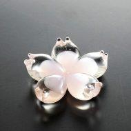 d4155-30-1 4.3x4.3ガラス製桜花はし置き
