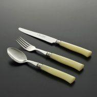 d5047-35-3 s20.5x4.0他黄マーブル持ち手ナイフ、フォーク、スプーン