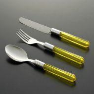 d5062-20-3 s19.7x4.2他黄透明アクリルナイフ、フォーク、スプーン