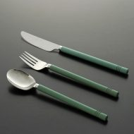 d5072-15-3 s19.5x3.8他青緑丸木製持ち手ナイフ・フォーク・スプーン