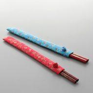 d8044-20-2 24.0×2.5中華袋つき朱はし 水色 赤