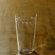 g1041-90-1 φ 6.4x11.3うすグラス上水玉模様