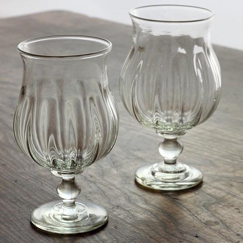 g1501 吹きワイングラス(翁再生ガラス工房)