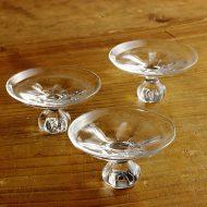 g1849-100-3 φ9.5x5.5ガラス高台皿 小 (井上 美樹)