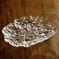 g3018-60-1 29.6x23.8渓流ガラス皿  大