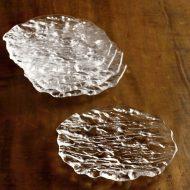 g3019-20-5 16.3x15.2渓流ガラス皿 小