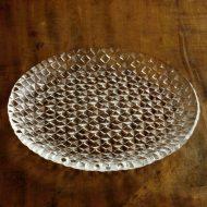 g3033-45-1 φ24.8格子ガラス丸皿 小 大