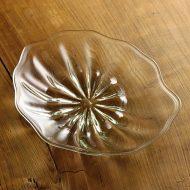g3039-450-1 30.0x25.5x3.6蓮の葉ガラス大皿(おおやぶ みよ)