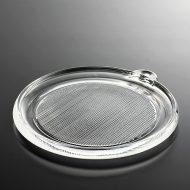 g3040-30-1 19.7x17.8筋目厚手ガラス皿