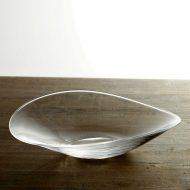 g3042-120-1 23.5x21.5x6.0楕円ガラスひねり鉢 やぎ もとこ