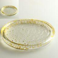 g3049-300-1 φ24.0x2.2金箔高台皿