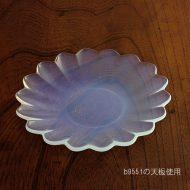 g3110 乳白花ガラス皿