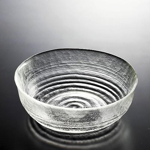 g4003-45-1 φ18.0x6.3ざらま渦巻きガラス大鉢