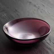 g4011-90-1 14.0x14.0x4.1骨董紫白柄ガラスボール