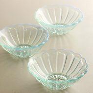 g4022-20-3 φ12.2x4.5かき氷ガラス鉢 水色