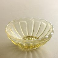g4023-20-1 φ12.2x4.5かき氷ガラス鉢 黄色