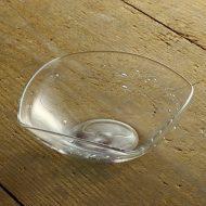 g4040-135-1 19.7x18.5x6.6手捻り角ガラス鉢 青/紫彩(大森康子)