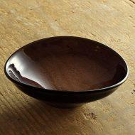 g4044-90-1 12.0x10.8x4.5あずきガラス楕円小鉢(西山芳浩)