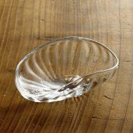 g4053 楕円モールガラス鉢 中(西山芳浩)