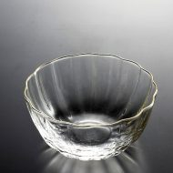 g4066-20-1 φ10.0x5.0金縁花形ガラス鉢