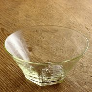g4075 底六角ガラス鉢(石川硝子工藝社)