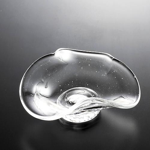 g4077-100-1 14.0x12.3x5.7変形ガラス平鉢