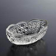 g4092-15-1 9.3x5.8x3.7楕円格子ガラス鉢