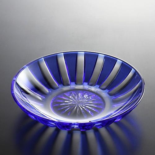 g4112-60-1 φ14.4x3.2藍ガラス平鉢
