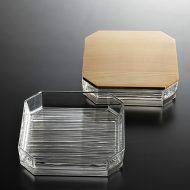 g4123-150-1 一段17.0x17.0x3.6ガラス二段重箱