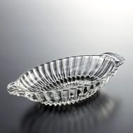 g4146-35-1 21.5x10.3x3.5アンティーク楕円両手ガラスボール